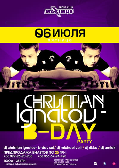 Chrisitian Ignatov B-Day Party